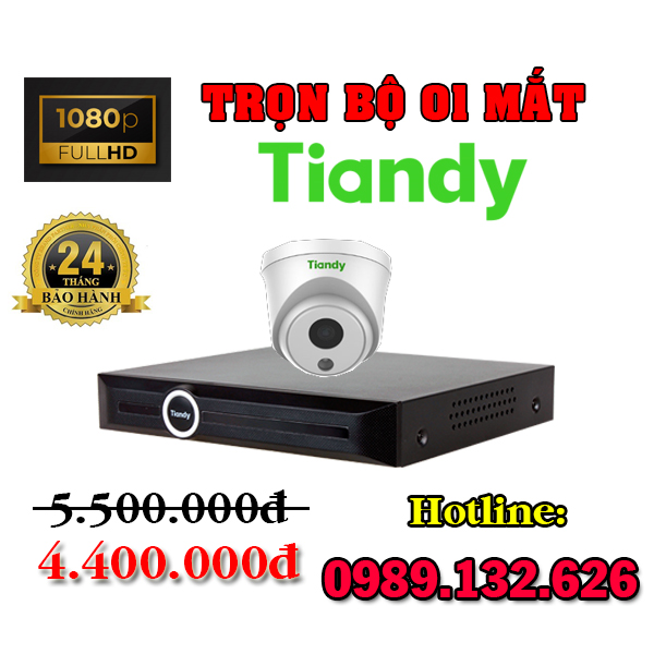 TRỌN BỘ 01 CAMERA TIANDY IP GIÁ RẺ - 2.0MP