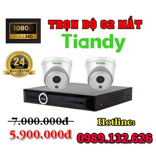 TRỌN BỘ 02 CAMERA TIANDY IP GIÁ RẺ - 2.0MP