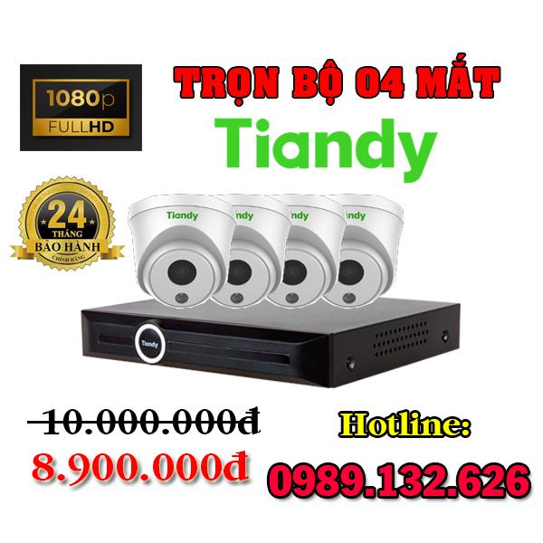 TRỌN BỘ 04 CAMERA TIANDY IP GIÁ RẺ - 2.0MP