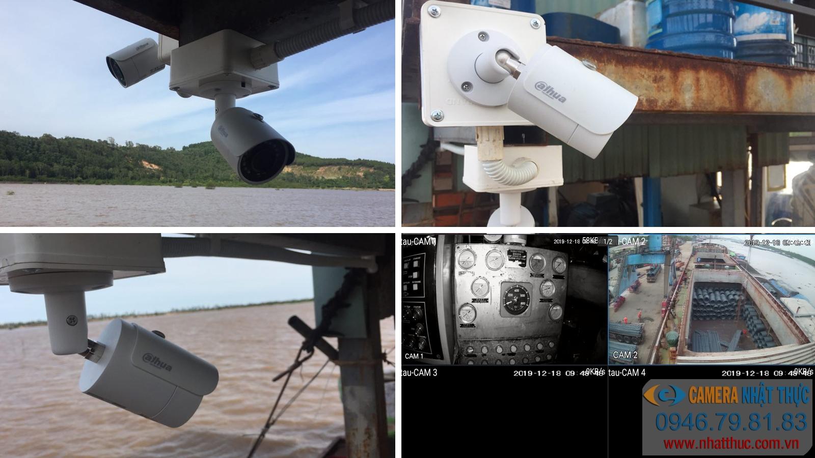 Lắp đặt camera trên tàu thuyền