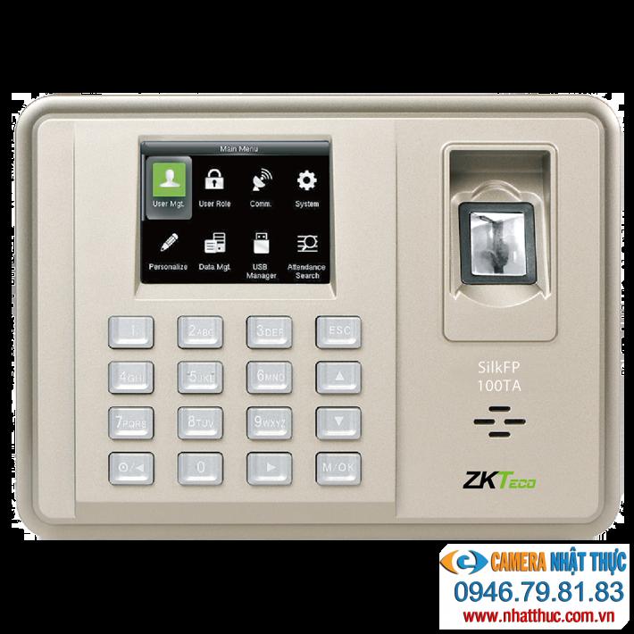 Máy chấm công vân tay và thẻ ZKteco silk 100TA1