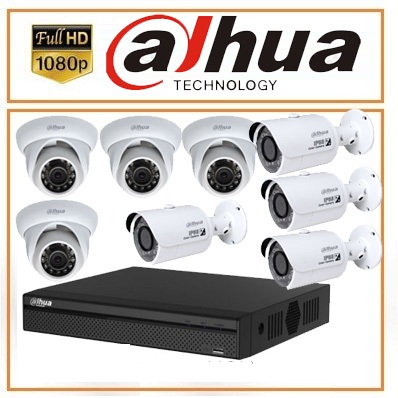 Trọn bộ 07 camera Dahua 2.0MP Full HD copy