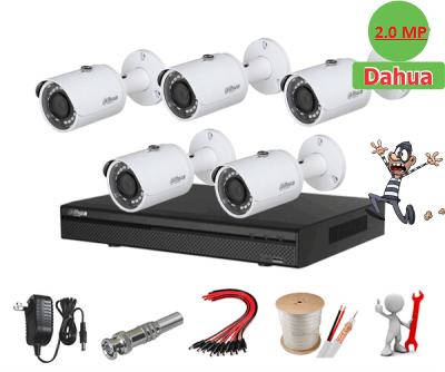 Trọn bộ 05 camera Dahua 2.0MP Full HD