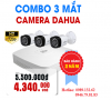 TRỌN BỘ 03 CAMERA DAHUA  HD - 1.0MP