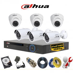 Trọn bộ 06 camera Dahua 2.0MP Full HD