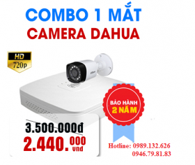TRỌN BỘ 01 CAMERA DAHUA HD-1.0MP